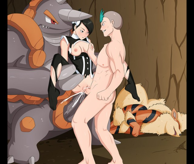 Girl Boys Anal Arcanine Black_hair Breasts Cum Cum_in_ass Cum_in_pussy Cum_inside Double_penetration Female Marley_pokemon