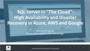 SQL Server Cloud High Availability & Disaster Recovery