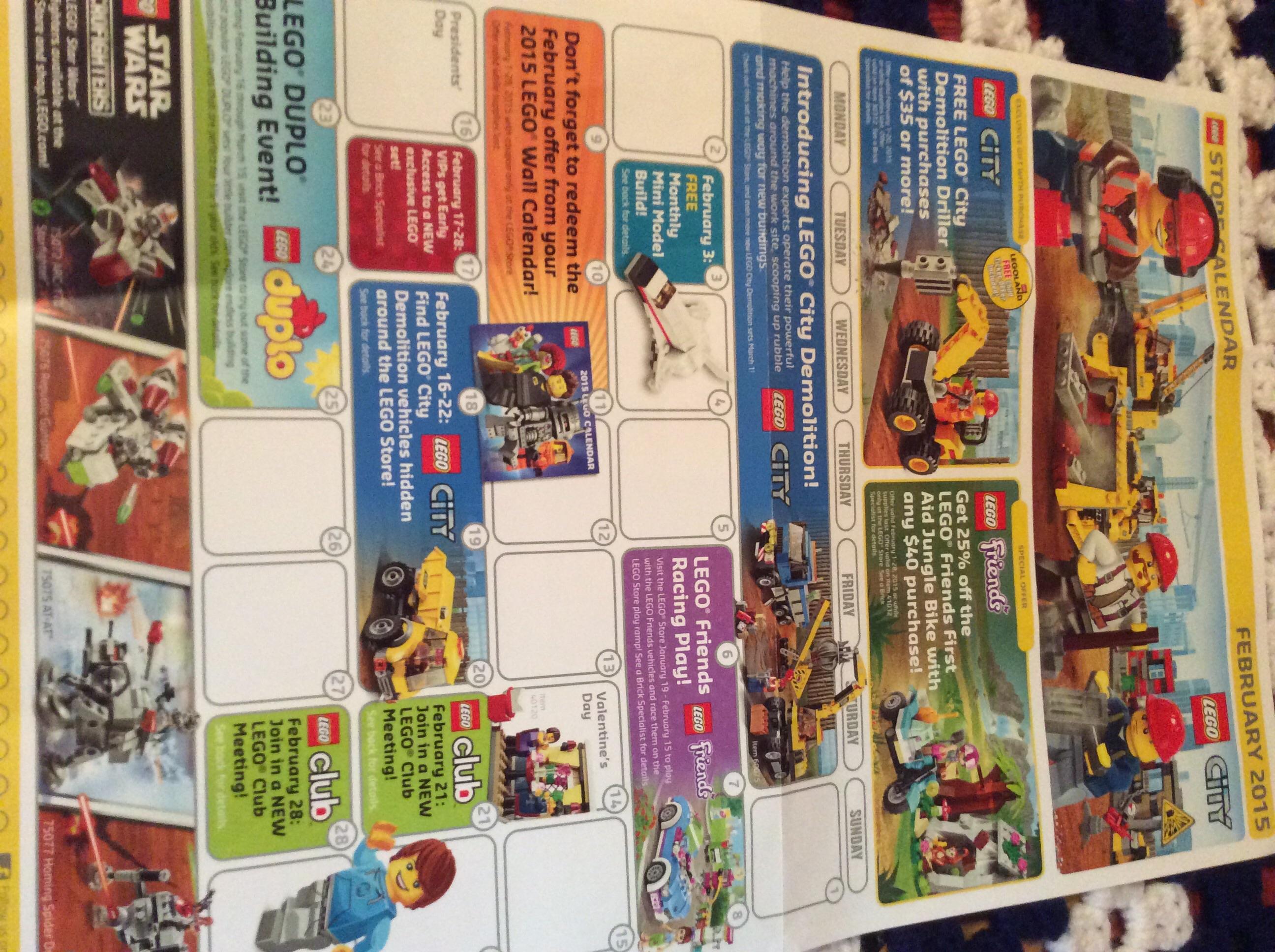 Lego Store February Calendar
