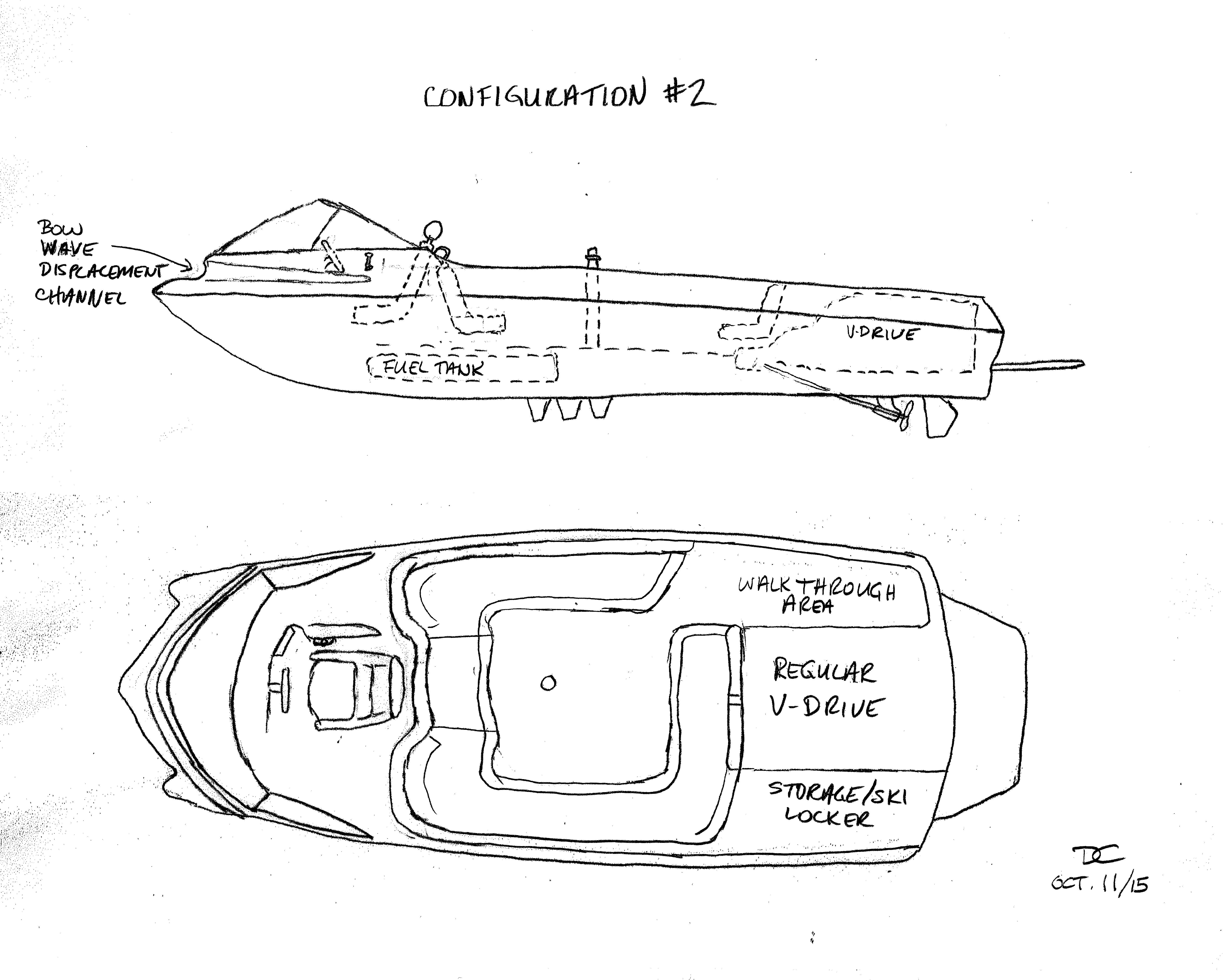 Slalom Boat With Center Forward Driving Position