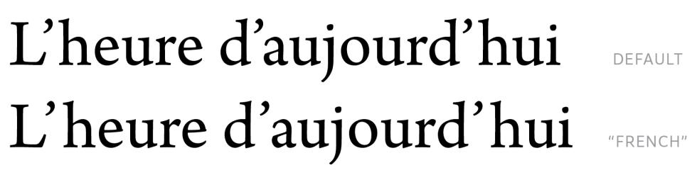 French apostrophe