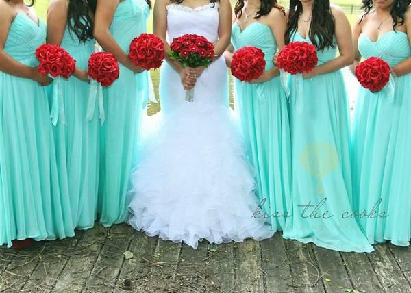 Tiffany Blue/ Mint Wedding Decor/dress/tiara...