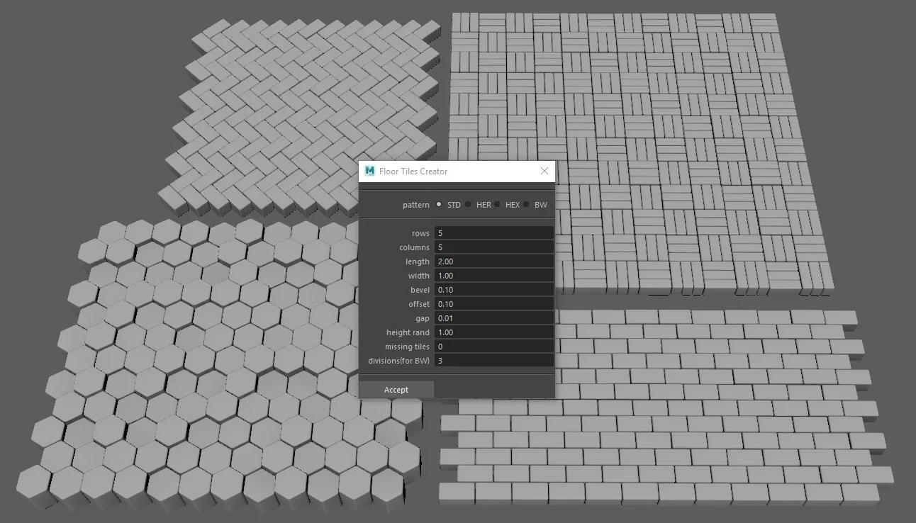 maya tile pattern generator polycount