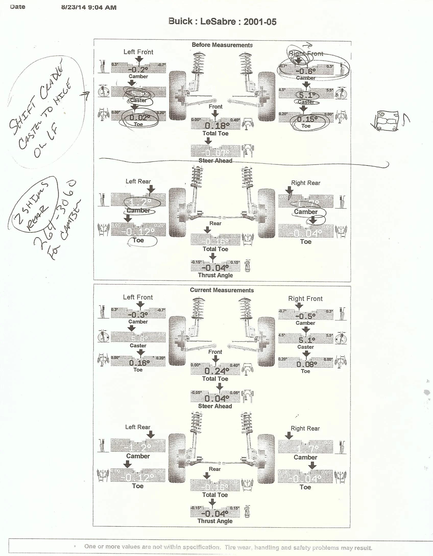 Buick Lesabre Rear Alignment