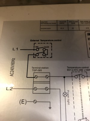 Help with wiring of Profusion Heater and Aube relay w