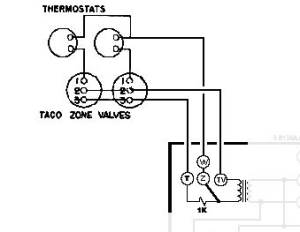 help wiring Honeywell Aquastat L8148E and 2x Taco Zone