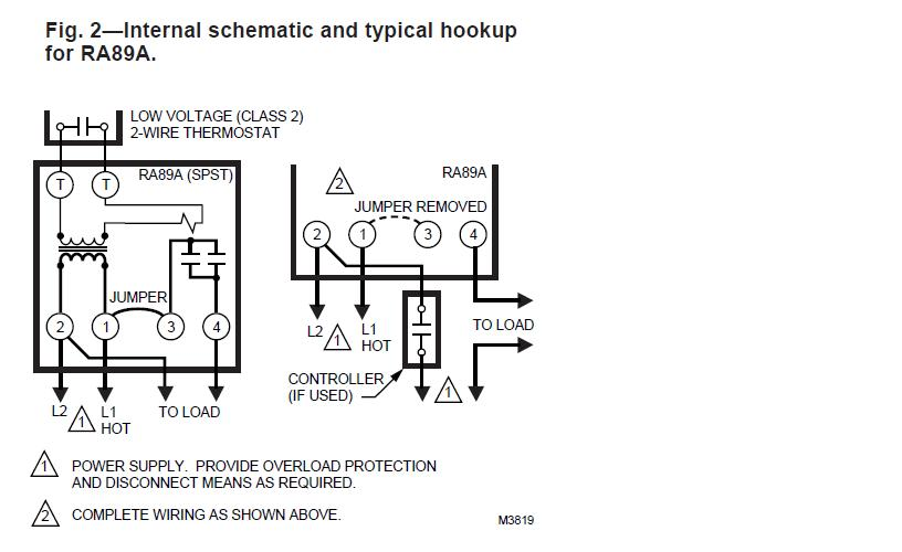 Using Single Aquastat To Control Relay To Turn Oil Boiler