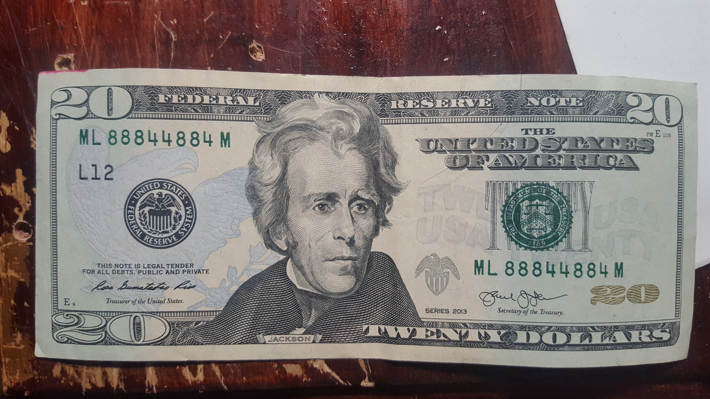 Can Anyone Tell Me If A 20 Dollar Bill With Serial Number