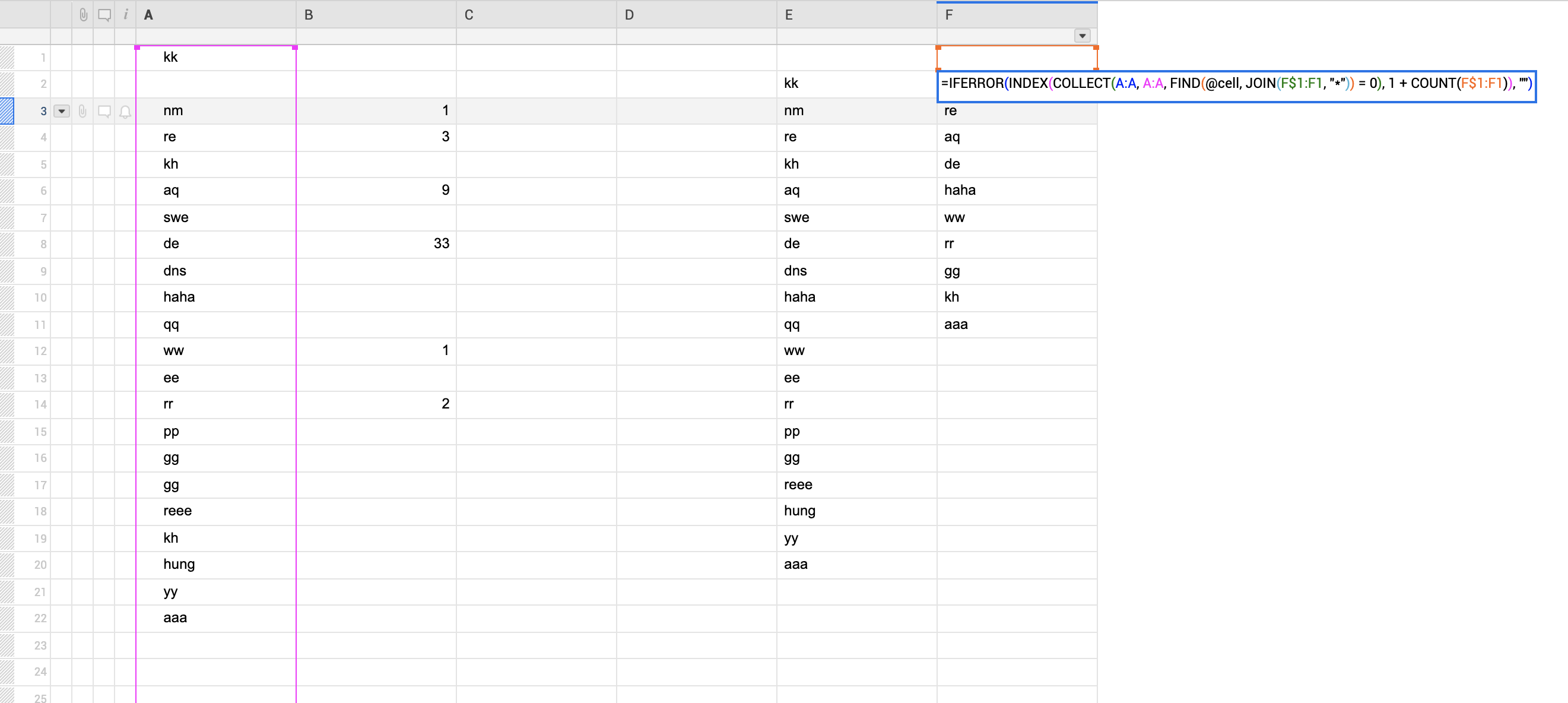 Index Match And Countif Function Are Not Working