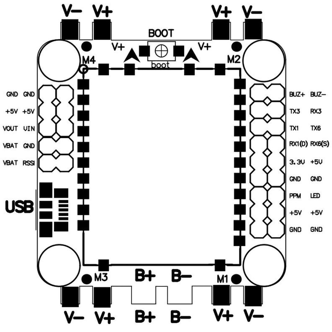 Diy Rc Drone Kit Part F4 Flight Control 35a Esc Brushless