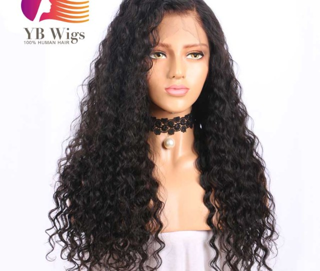 Us 190 Water Wave Full Lace Wigs Brazilian Virgin Hair Pre Plucked Hair Line With Baby Hair Free Shipping Flww01 Www Ybwigs Com