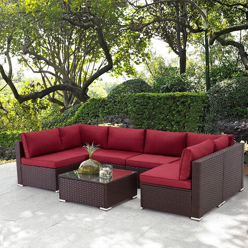 piece outdoor patio furniture set