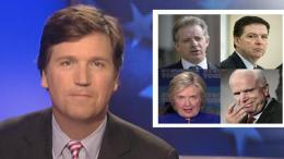 Tucker Carlson on the lack of legitimacy of the Trump dossier. Photo credit to Fox news screen capture by US4Trump.