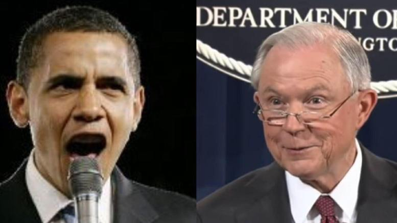 Session declares IG will open investigation into potential FISA abuses. Photo credit to Gateway Pundit/Wonkette/ US4Trump compilation.