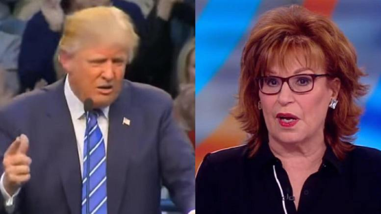 Joy Behar of the low ranking talk show, The View, says Putin and Rocket Man are more sane than POTUS. Photo credit to screen capture by US4Trump.