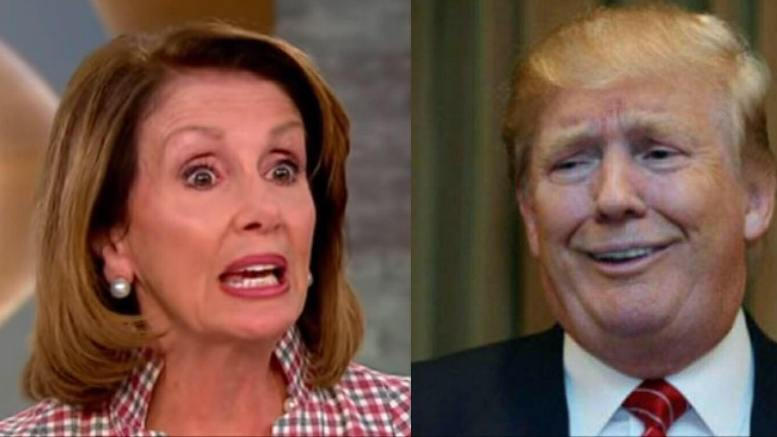 Nancy Pelosi says POTUS FIRED Mueller in strange DCCC fundraiser email. Photo credit to CBS Screen Grab, Twitter, USA For Trump Compilation.