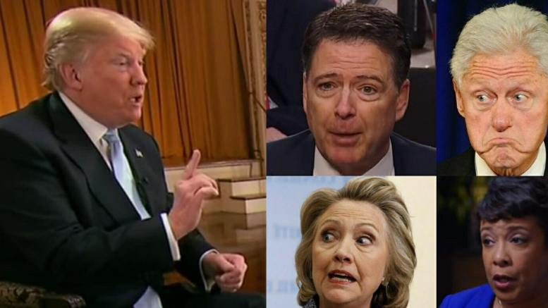 President Trump tweets responses in front of book release by former FBI Director, James Comey. Photo credit to US4Trump compilation of CNN/ CSPAN/NBC Screen Shots/The Salon/ Reuters.