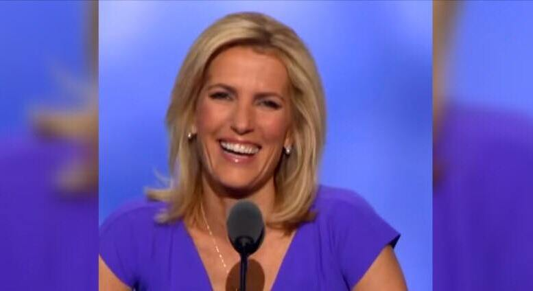 Laura enjoys 20% hike in ratings after left attacks the Ingraham Angle on Fox News. Photo credit to Inside Edition Screen Capture and US4Trump Enhancement.