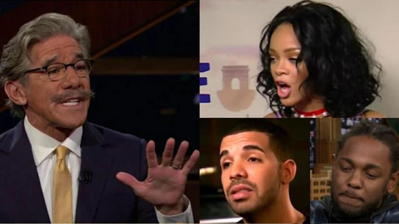 Geraldo Rivera issues wake up call to those who are spearheading against free speech. Rhianna, Drake and Lamar Kendrick. Photo credit to screen captures by US4Trump.