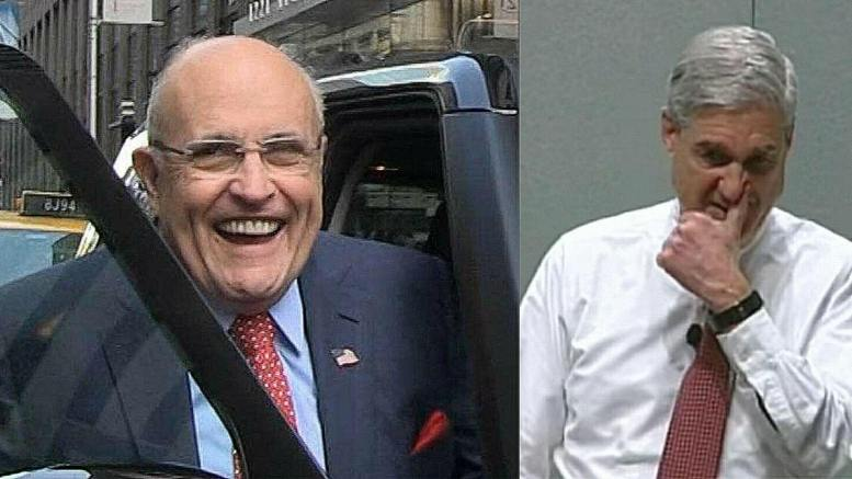 Giuliani talks about the court of public opinion with Howie Kurtz. Photo credit to US4Trump compilation with TMZ and Screen Grab.