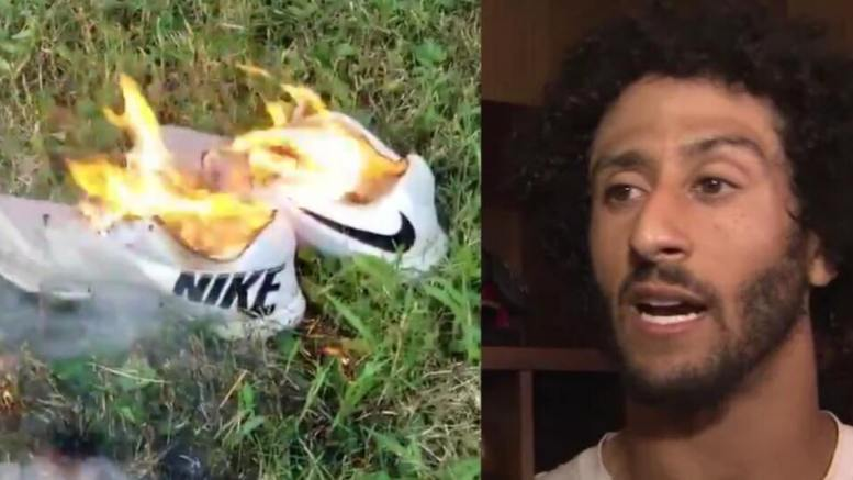 Nike and their controversial advertisement. Photo credit to US4Trump compilation with screen grabs.