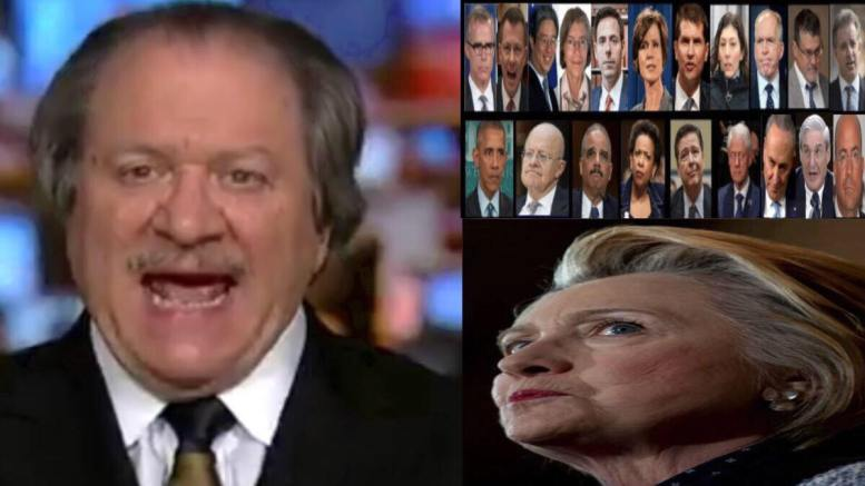 Joe diGenova weighed in on the legal issues coming down the pike. Photo credit to US4Trump compilation.