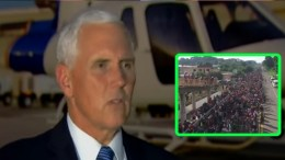 Vice President Pence weighs in on Caravan. Photo credit to US4Trump compilation screen shots.