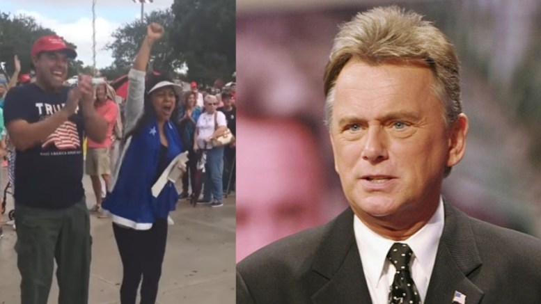 Pat Sajak is back! In a big league way! Photo credit to US4Trump compilation with image source (L) Screen Grab (R) Politicus USA.