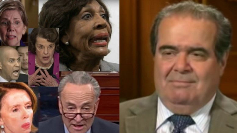 Adele Scalia spoke out against Democrats' treatment of Justice Kavanaugh. Photo credit to US4Trump compilation with screen shots.