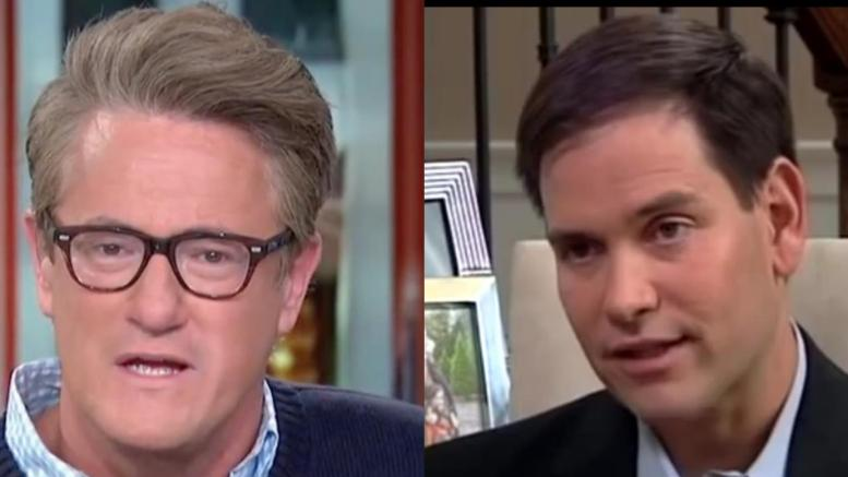 Rubio strikes out at Morning Joe over recount votes in 2018 midterms for Florida. Photo credit to US4Trump compilation with screen shots.