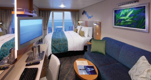 Superior Oceanview Stateroom with Balcony Cat. D - Room #11222 - Deck 11 MidshipOasis of the Seas - Royal Caribbean Cruise Line