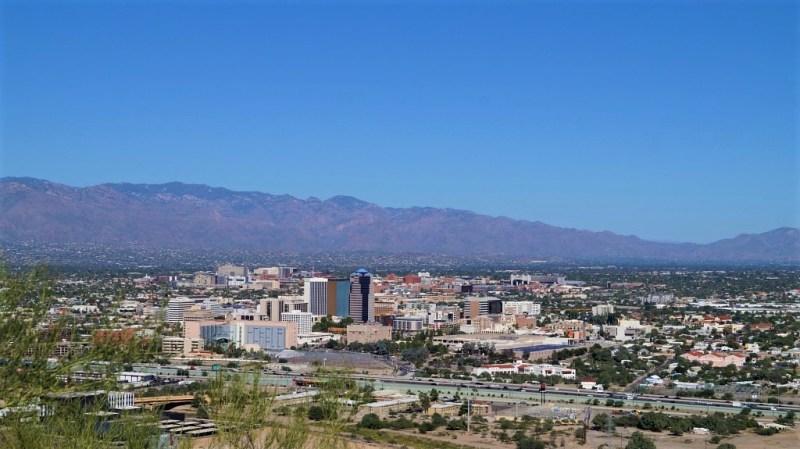 Blick auf Tucson vom A Mountain