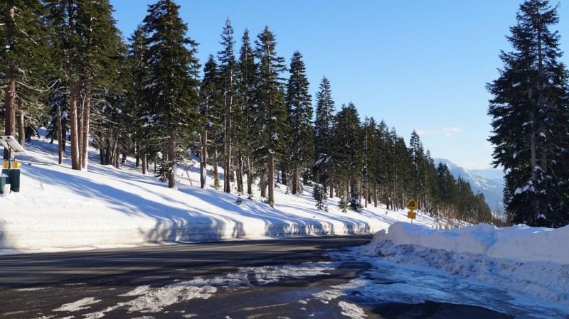 Schnee in Nevada