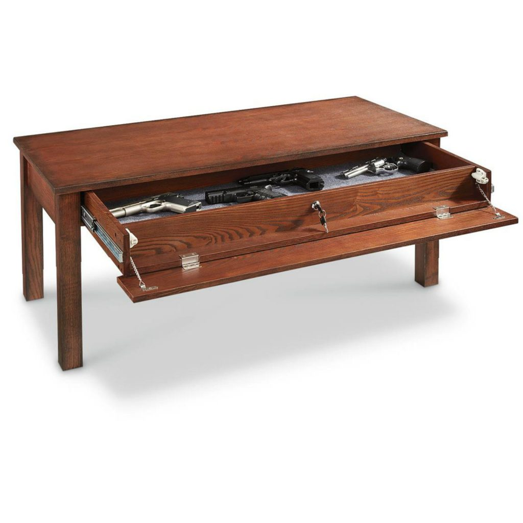 Castlecreek coffee table gun safe
