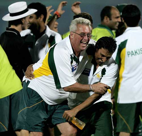 Bob Woolmer and Younis Khan