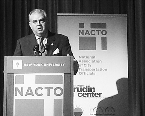 At NACTO Conference  LaHood Delivers Straight Talk on MAP 21     U S  DOT chief Ray LaHood says cities are the incubators of innovation   Photo  NYCDOT via   http   blog archpaper com wordpress archives 48812  AN  Blog
