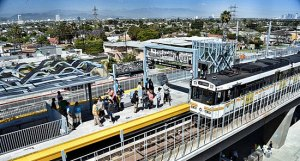 "USC researchers called the changed in travel behavior following the introduction of L.A.'s Expo light rail line ""striking."" Image: ##http://zev.lacounty.gov/news/transportation/bus-rail/expo-orange-line-ridership-on-a-roll## L.A. County##"