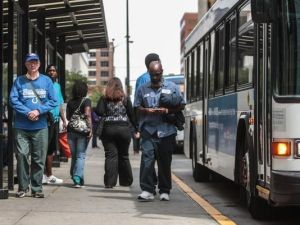 Indianapolis' bus-only transit system will stay that way, thanks to a light rail ban in the transit funding bill. Photo: ##http://www.indystar.com/story/news/politics/2014/02/04/indiana-senate-oks-indy-area-transit-bill/5204849/##Indy Star##