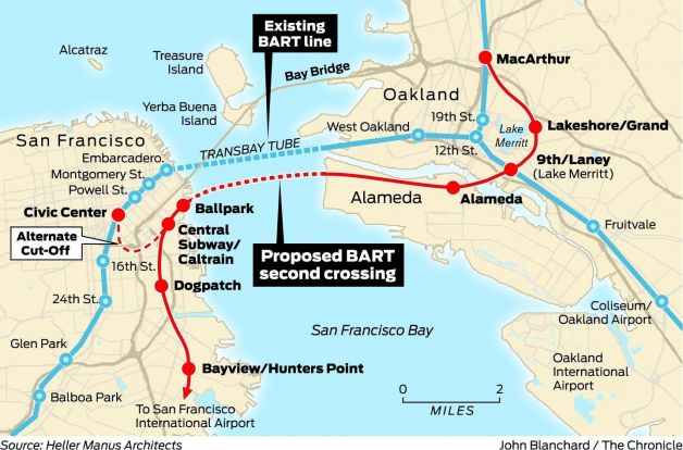 Image: ##http://www.sfgate.com/opinion/article/2nd-BART-tube-under-the-bay-would-serve-region-5236682.php##SF Gate##