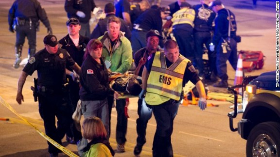 A driver trying to avoid a police check for drunk driving killed at least two people last night in Austin's SXSW festival. Photo: ##http://www.cnn.com/2014/03/13/us/texas-sxsw-crash/##CNN##
