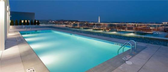 """Rooftop pool with a view of the Washington Monument? All this could be yours if you have insane amounts of disposable income. And I do mean """"disposable."""" Photo: ##http://www.rentalsgonewild.com/propertydetail/183/i-street-nw-washington-dc-20037##Rentals Gone Wild##"""