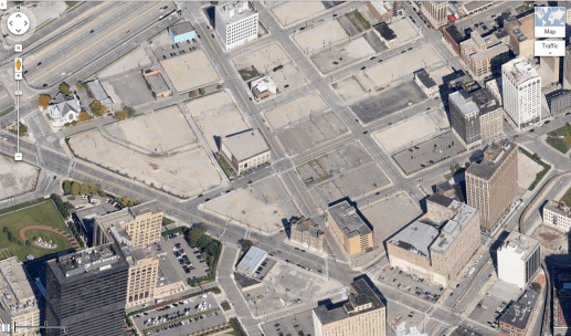 Detroit Parking Crater