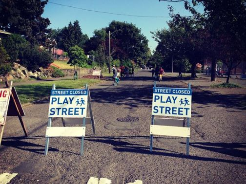 "Seattle launched its ""play streets"" program on Friday. Photo: Seattle Department of Transportation"