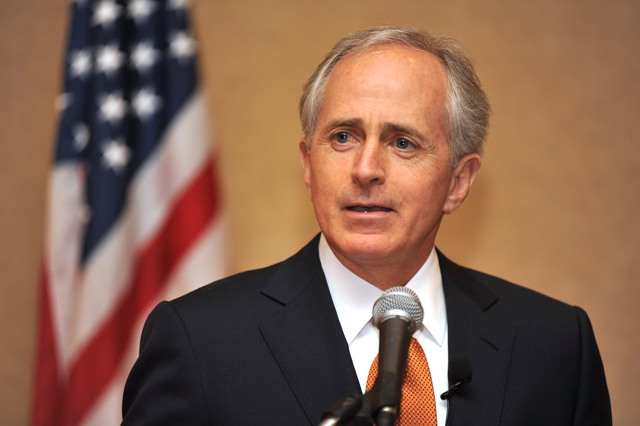 Sen. Bob Corker can't quite get behind a gas tax hike, though his entire argument points in that direction. Photo: ##http://www.corker.senate.gov/public/index.cfm?FuseAction=Images.Display&ImageGallery_id=a36a3e1a-0103-b714-2285-f8fb90d613e1##Office of Sen. Corker##