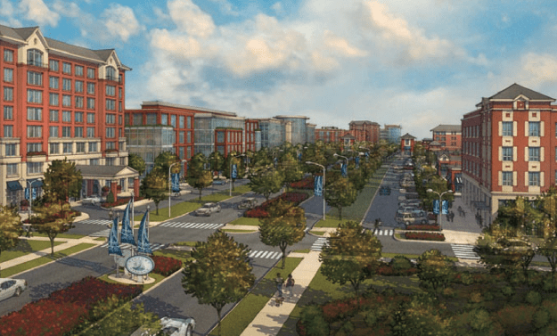 A concept rendering for the boulevard that could replace I-81. Image: Onondaga Citizen League