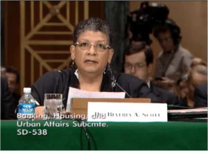"Beverly Scott of the MBTA warned that current funding levels, as continued by the proposed Senate transportation bill, are ""woefully insufficient."""
