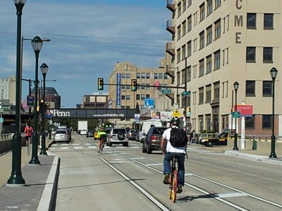 A cyclist who was seriously injured in a Philadelphia collision in 2011 won a large settlement earlier this month. Photo: ##https://www.flickr.com/photos/philly_bike_coalition/8019843138/##Philly Bike Coalition / Flickr##