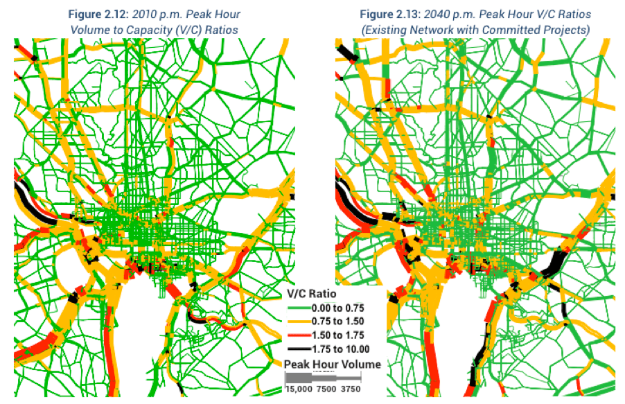 How much does the moveDC plan relieve congestion? Not much, actually. Image: DDOT