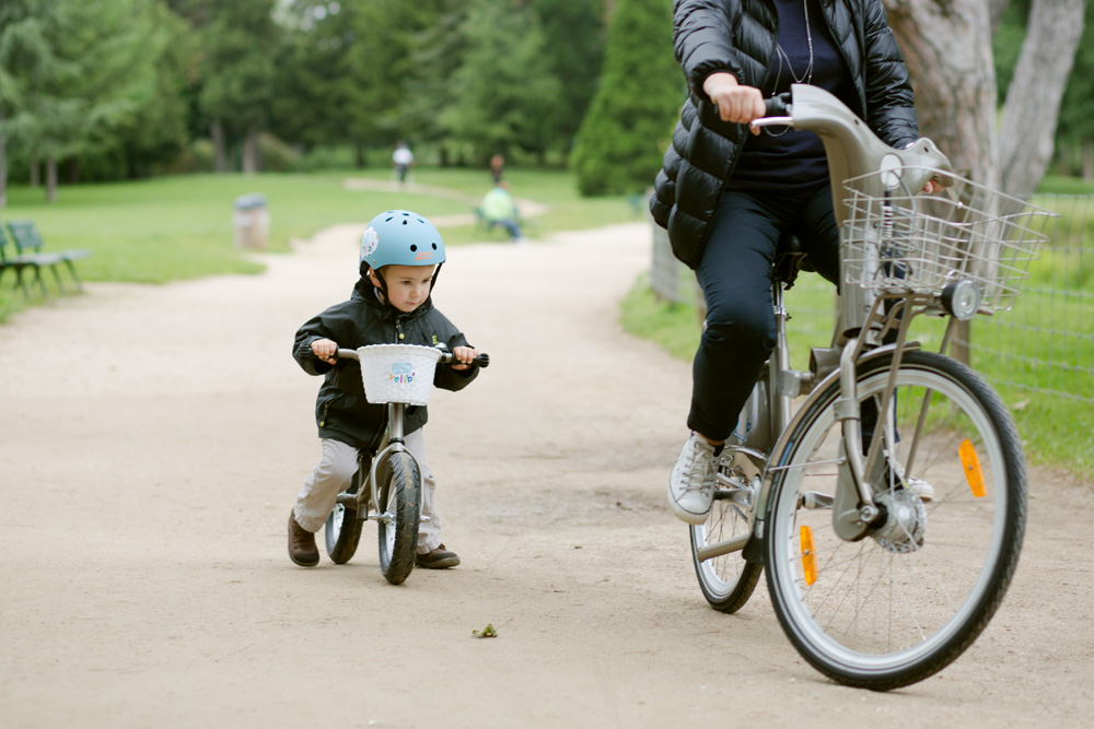 Paris is the first city in the world to launch a modified bike-share for kids. Photo: ##http://www.fastcodesign.com/3032161/slicker-city/paris-launches-ptit-velib-a-bike-share-for-kids#1##Fast Co-Design##
