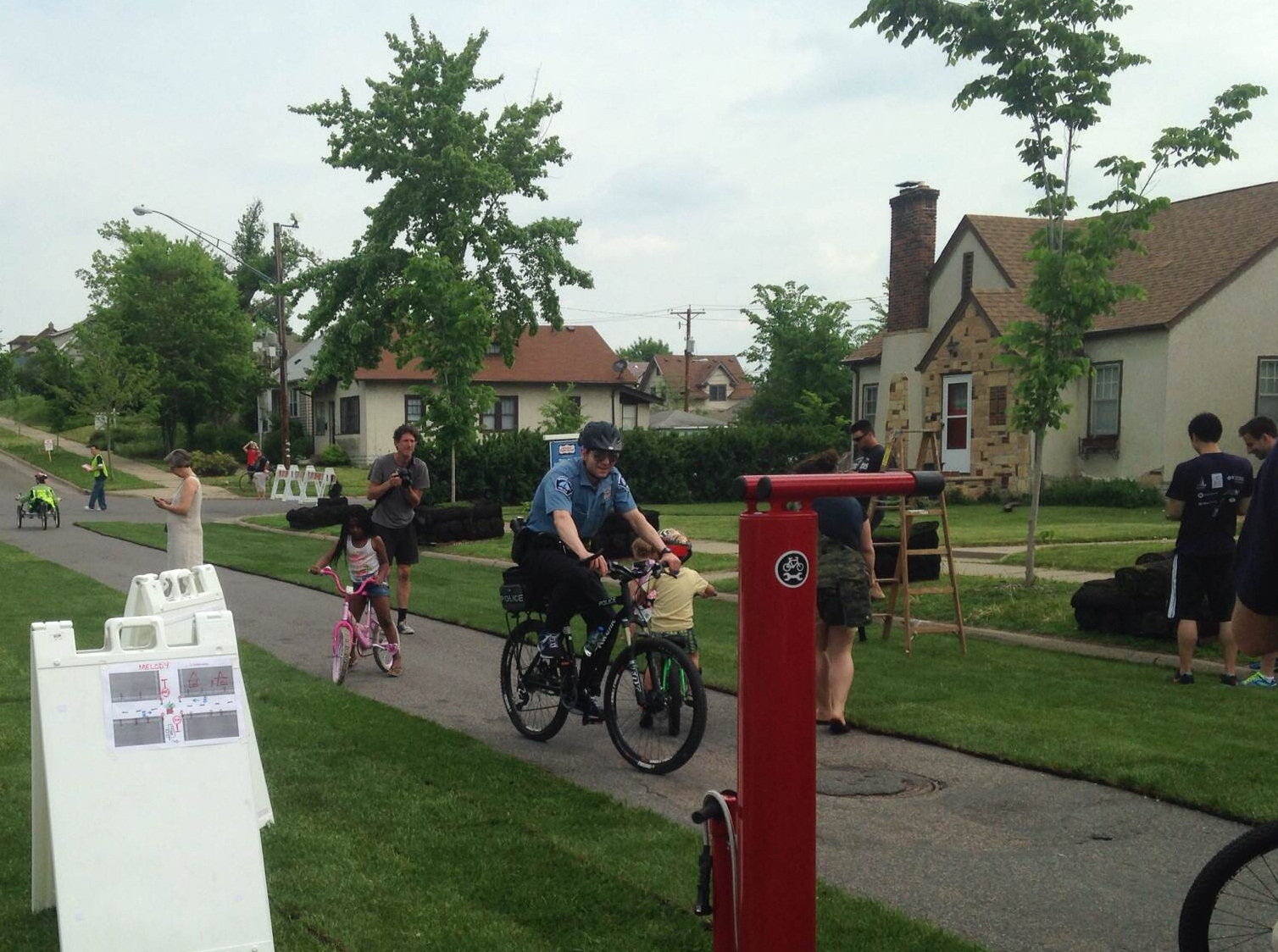Sod was lain to show residents what a new bike greenway in North Minneapolis could look like.